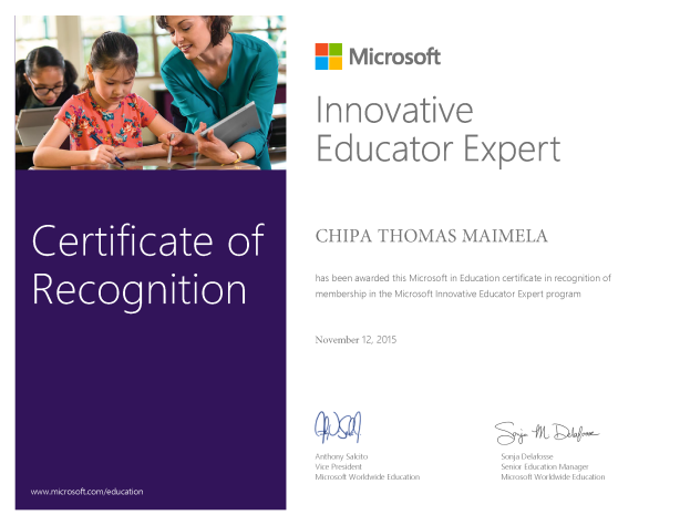 MIE Expert Certificate