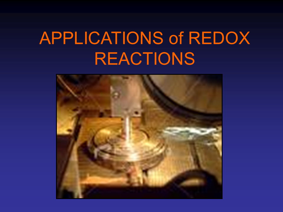 Application Of Redox Reactions