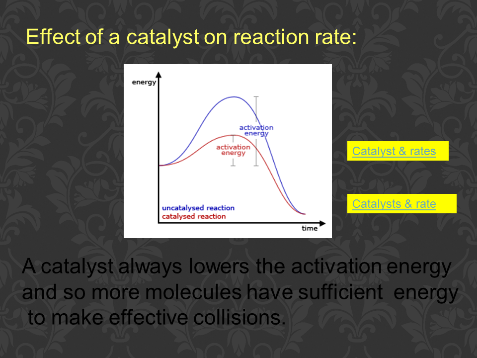 chemistry concentration effects rate of reaction essay Four factors which affect rates of reaction: • paper marked with due to the fact that we were measuring how concentration affects the rate of reaction.